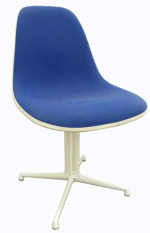 Blue Fabric Eames La Fonda Chair (BK)