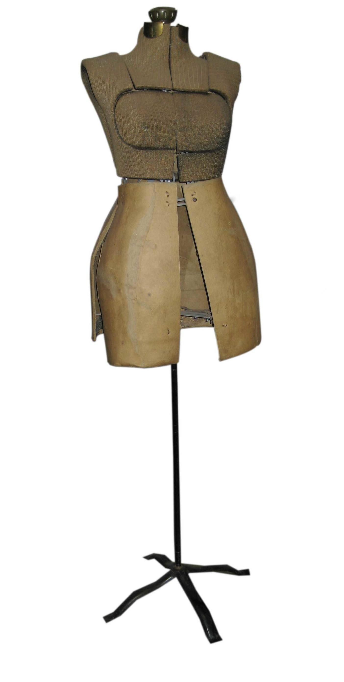 Antique Adjule Dress Form With