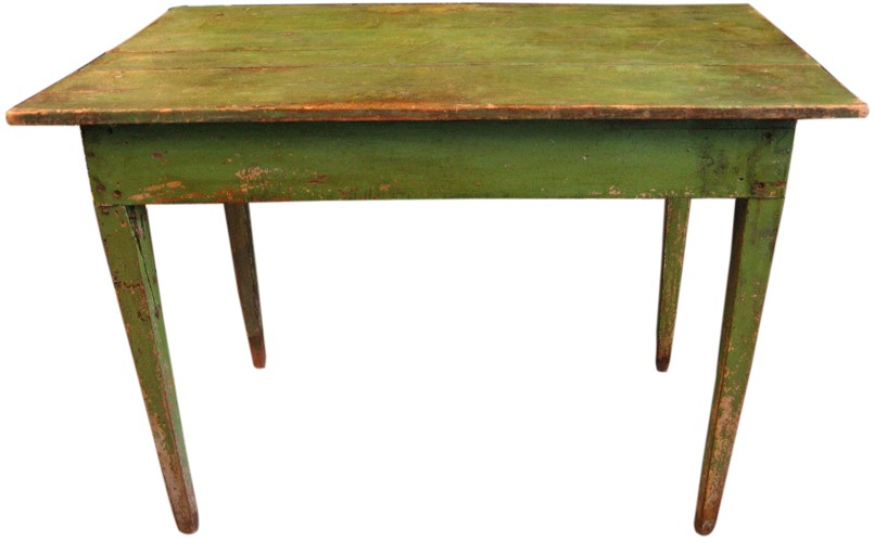 Bright Green Painted Antique Country Table (BK)