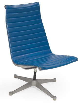Herman Miller Eames Lounge Chair, Aluminum With Vinyl Upholstery (BK)