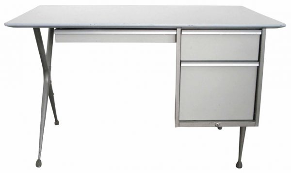 Vintage Raymond Lowey Desk With White Enameled Drawers (BK)