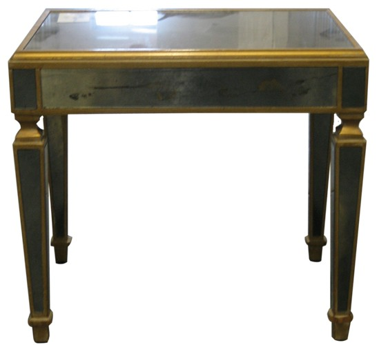 Antique Mirrored Side Table - Antique Mirrored Side Table - Lost And Found