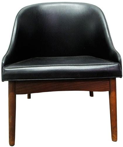 Bent Wood Black Upholstered Chair With Barrel Back Bk