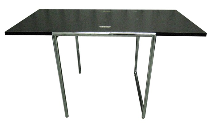 Black Eileen Gray Expanding Table With Chrome Legs