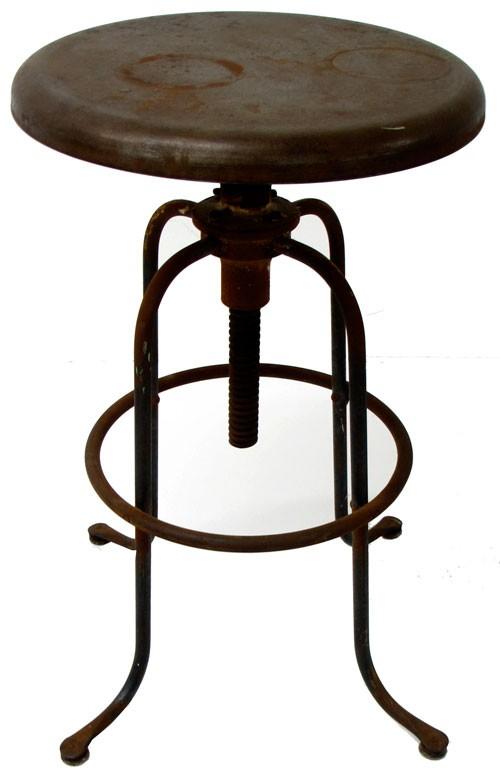 Vintage metal furniture Kitchen Island Base Vintage Metal Stool With Adjustable Height Pinterest Vintage Metal Stool With Adjustable Height Lost And Found