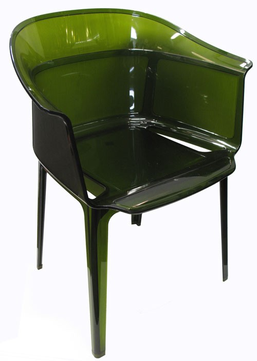 green kartell papyrus chair lost and found