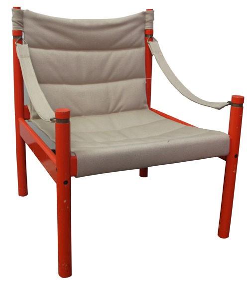 vintage 60s furniture. Vintage 60s Red Lacquer Frame Safari Chair Vintage Furniture