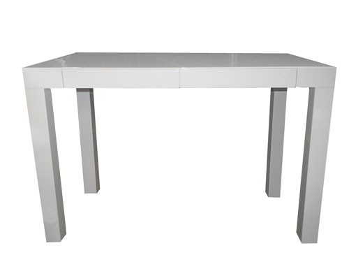 Glossy White Desk With 2 Drawers ( BK )