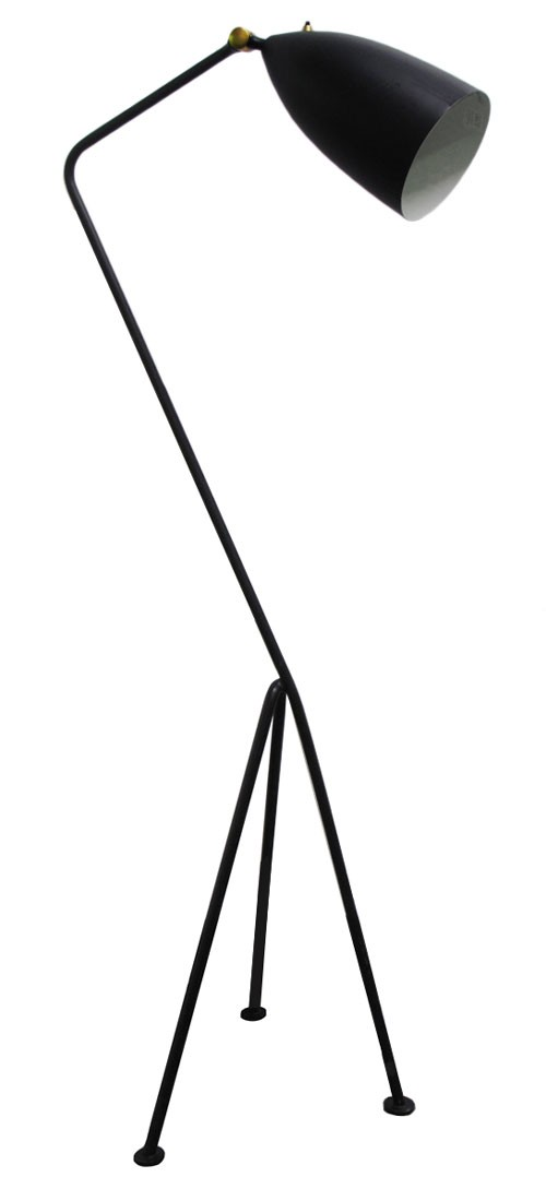 Black Greta Grossman Floor Lamp