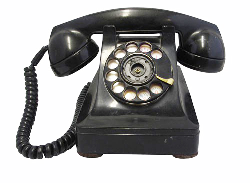 Details about  /Vintage Rotary Phones Black