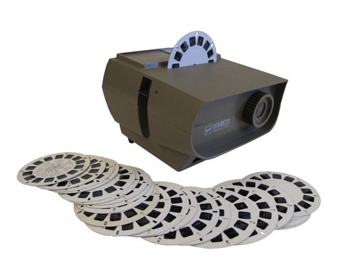 Brown Vintage Viewmaster Slide Projector