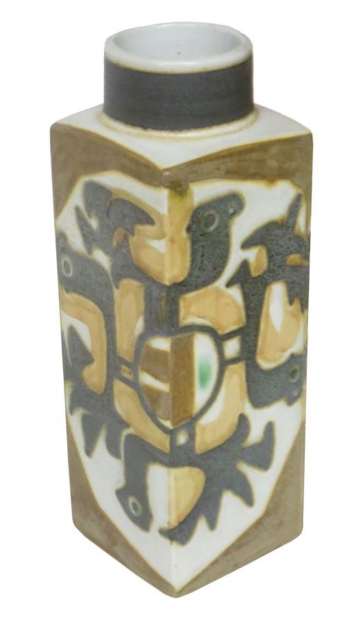 Vintage Brown Gray Tan Royal Copenhagen Vase Lost And Found