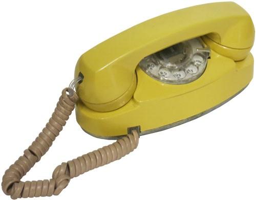 Vintage Yellow Rotary Princess Phone