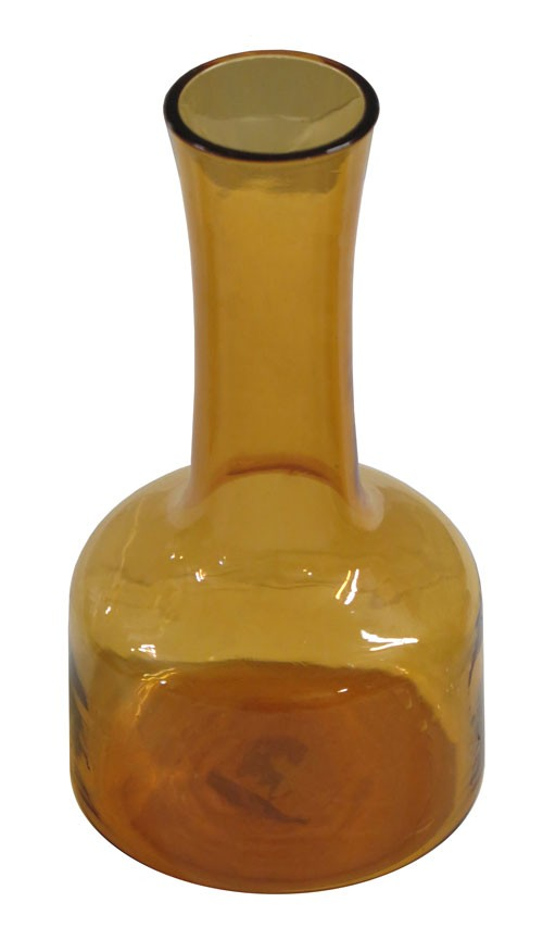 Long Neck Amber Glass Vase With Short Body Lost And Found
