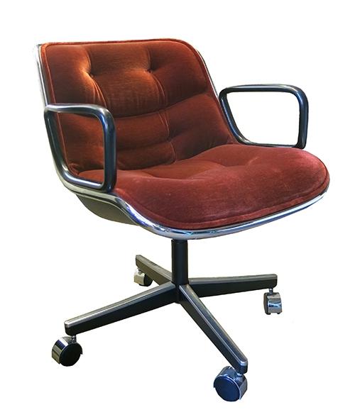 Outstanding Red Velvet Pollock Rolling Office Chair Bk Theyellowbook Wood Chair Design Ideas Theyellowbookinfo