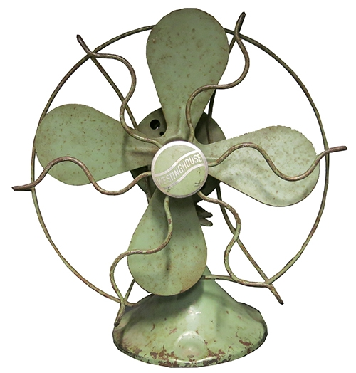 """Vintage Green """"Westinghouse"""" Fan"""