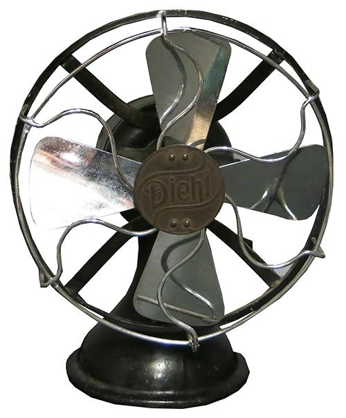 Vintage Black & Silver Diehl Fan