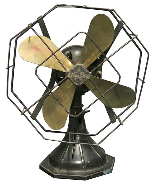"""Vintage Octagonal """"Star Rite"""" Fan"""