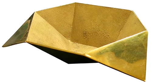 Brass Origami Bowl Lost And Found