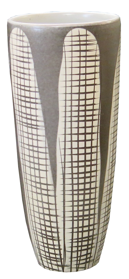 Swedish Grey Vase With Cross Hatch Lost And Found