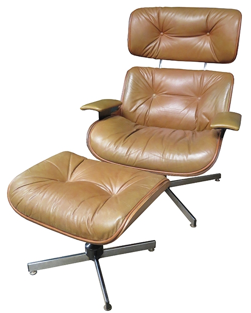 Eames Replica Lounge Chair With Ottoman (BK)