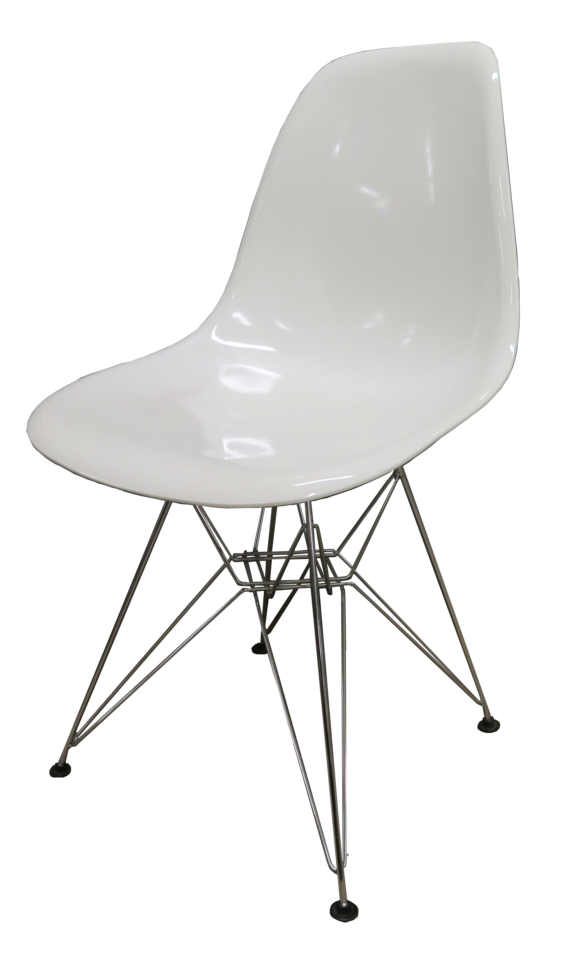 Eames Style White Shell Chair With