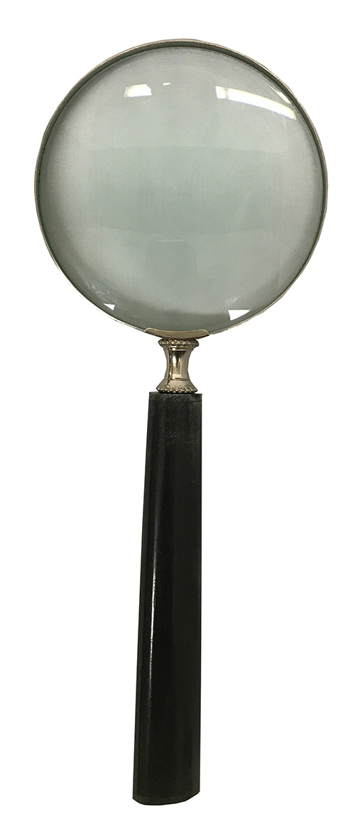 Magnigying Glass with Black Oval Handle