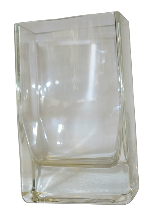 Clear Glass Vase With Straight Sides Heavy Bottom Lost And Found