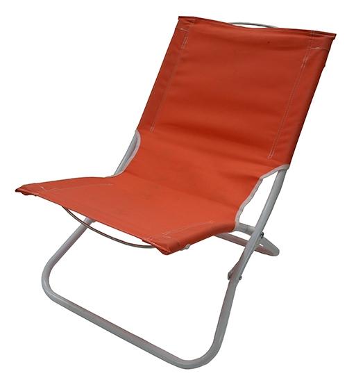 Orange Aluminum Folding Beach Chair