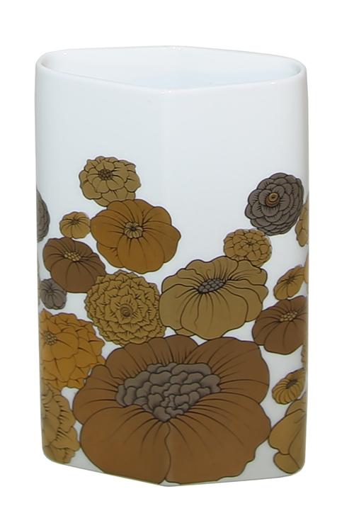 Gold Floral Print Rosenthal Porcelain Vase