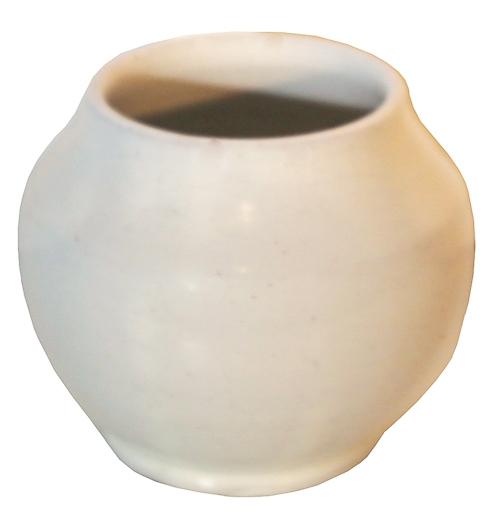 White Ceramic Bulb Vase Lost And Found