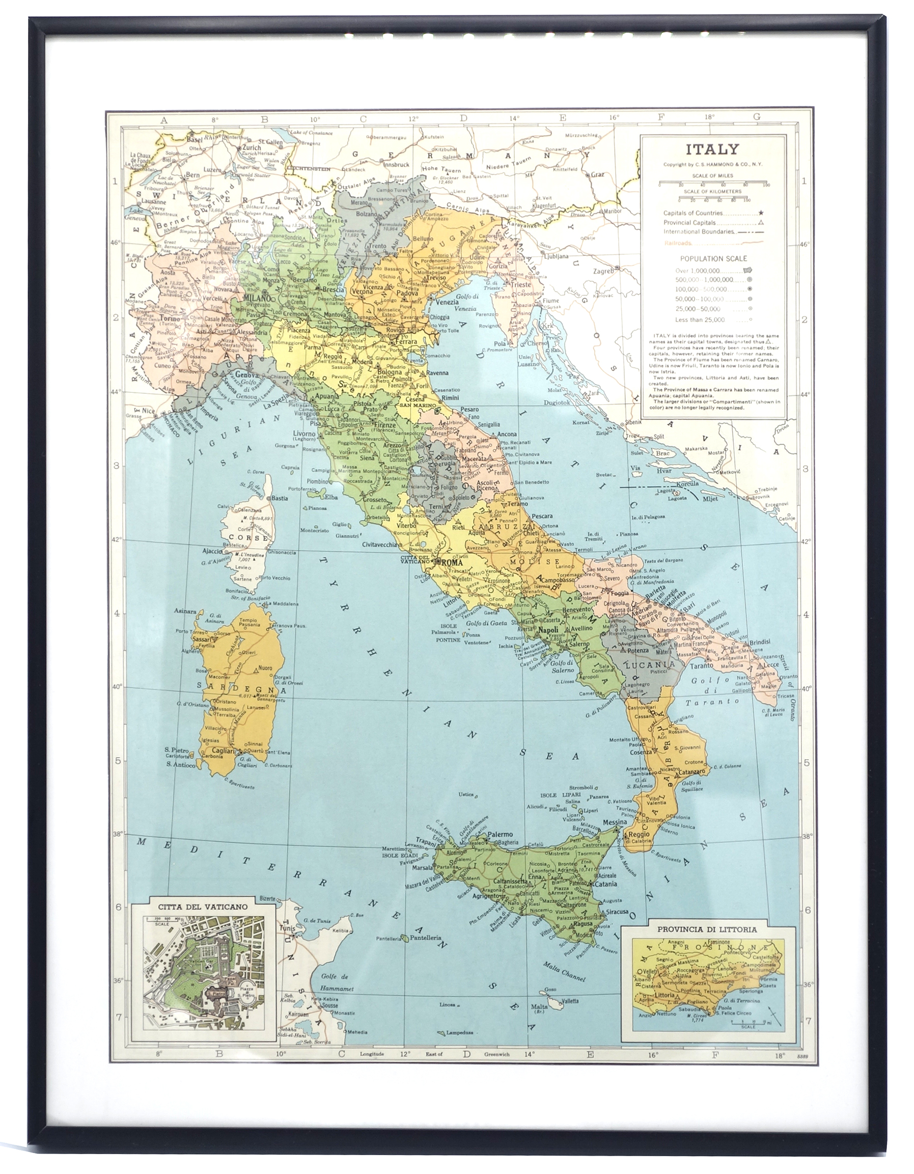 graphic relating to Printable Maps of Italy identified as Common Print Map of Italy